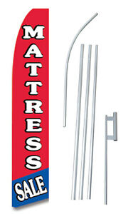 Mattress Sale Tall Advertising Banner Flag Complete Sign Kit 2 5 Feet Wide