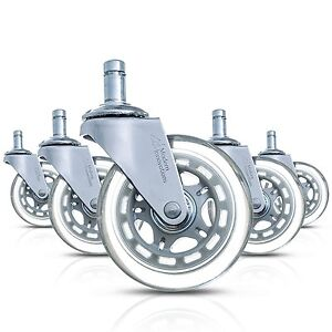 Modern Innovations 3 Office Chair Casters Set Of 5 Heavy Duty Rollerblade Styl