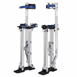 18 30 Inch Drywall Stilts Aluminum Tool Painters Walking Taping Finishing Silver