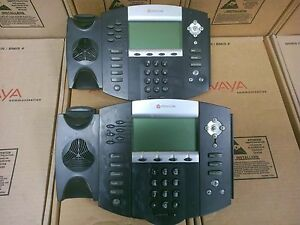 Lot Of 2 Polycom Soundpoint Ip 650 Ip650 Sip 2201 12630 001 Phone Parts Only