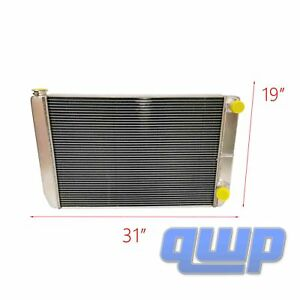 New Universal Full Aluminum Radiator 2 Row 31 X 19 Double Pass Gm Style