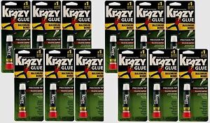 12 New Instant Krazy Glue Wood And Leather 2g High Strength Ahesive Kg82148r