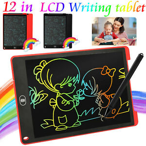 12 Ultra thin Lcd Writing Drawing Tablet Pad Notepad Practice Board Clipboard