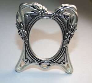 Vintage 925 Sterling Silver Photo Picture Frame Stand Alone Decor Desk Display