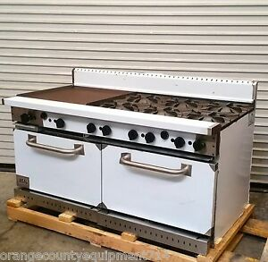 New 60 6 Burner 24 Flat Top Griddle Gas Range Ideal Idrg 4g36 3490 Commercial