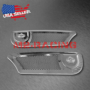 Universal Abs Chrome Air Fender Grill Vip Side Vents Car Suv Decal Decoration Fits 2010 Toyota Corolla