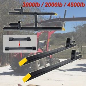 Hd 2000lbs 4500lbs Clamp On Pallet Forks Loader Bucket Tractor Stabilizer Bar