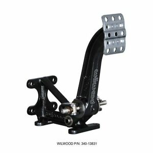 Wilwood 340 13831 Floor Mount Brake Pedal 9 6 Ratio Aluminum Black Coated