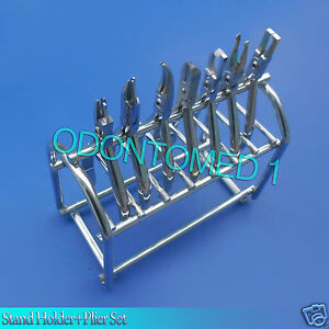 Set Of 7 Pcs Orthodontic Pliers With Stand Holder Surgical Instruments Dn 550