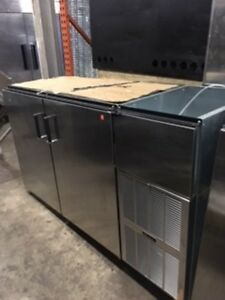 Perlick 2 section Back Bar Cooler Stainless Steel Self contained C5063escul