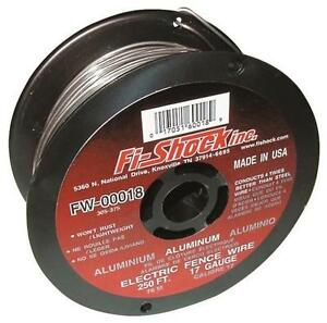 New Fi shock Fw 00018d 17ga 250 Ft Aluminum Electric Fence Wire 6782627