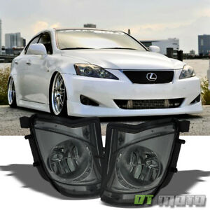 Smoke 2006 2010 Lexus Is250 Is350 Direct Bumper Fog Lights Lamps Replacement Set