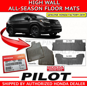 Genuine Oem Honda Pilot High Wall All Season Floor Mat Set Mats 2016 2019