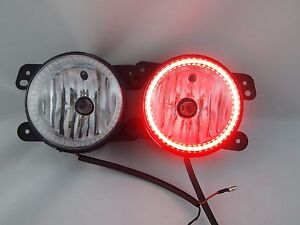 07 16 Jeep Wrangler Bumper Fog Lights Bulbs Smd Halo Red Harness