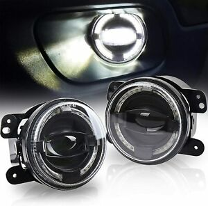 07 16 Jeep Wrangler Bumper Fog Lights Bulbs Smd Halos White Harness