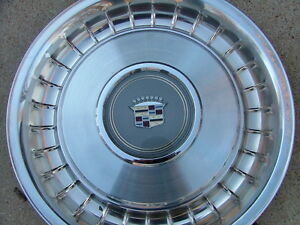 1980 87 Cadillac Turbine Style Wheel Covers Set 4 Nos Hub Caps