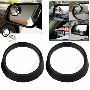 2pcs Car Vehicle Wide Angle Round Convex Mirror Blind Spot Auto Rear View