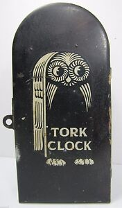 Old Tork Clock Co New York Casket Coffin Box Electric Light Timer Industrial Owl