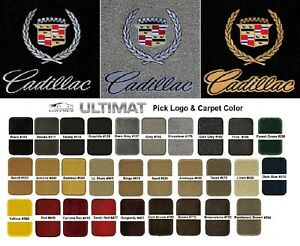 Lloyd Mats Vintage Cadillac Crest Word Ultimat 4pc Logo Floor Mats 1941 2001