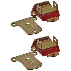 Early Sbc Bbc Engine Motor Mounts Polyurethane 2 5 8 Wide Red Zinc Pair