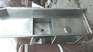 91 Stainless Soil Dishwasher Table Dish Washer Restaurant d15 Shelf Used