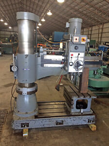 1991 4 X 12 Sharp Radial Arm Drill Model Rd 1230 Box Table