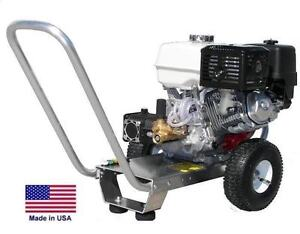 Pressure Washer Portable Cold Water 3 Gpm 2700 Psi 5 5 Hp Honda Eng Cat