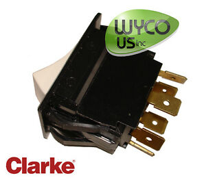 Switch On off 6 prongs clarke Encore 28 33 38 Vision 26 32 38 Scrubbers 10c35