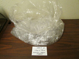 Large Bag Of A Few Hundred 12mm X 75mm Plastic Test Tubes Nos