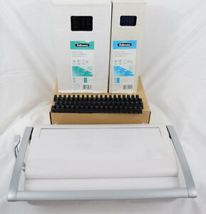 Fellowes Star 150 Manual Comb Binding Machine Plastic Combs Navy 1 4 Black 1 2