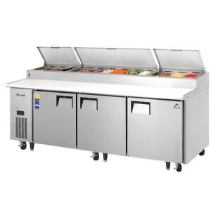 New 93 Refrigerated Pizza Prep Table Everest Eppr3 4822 Cold Top Nsf