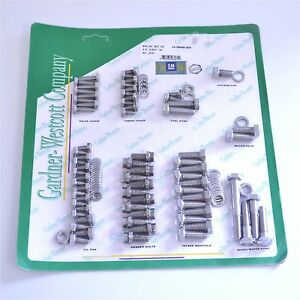 Gw 13 56490 hsp Small Block Chevy Stainless Steel Engine Bolt Kit Ss Logo