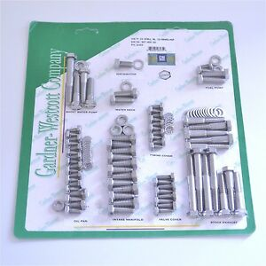 Gw 13 56492 hsp Ss Bolt Kit Small Block Chevy With Exhaust Manifolds Ss Logo