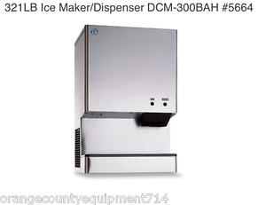 New 321 Lb Ice Maker Dispenser Hoshizaki Dcm 300bah 5664 Commercial Machine Nsf