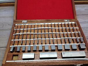 Nice Dapra Hoke Carbide Gage Block Set 050 4 Grade 1