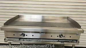 New 48 Thermostat Griddle Flat Top Grill Gas Stratus Stg 48 5828 Commercial Nsf