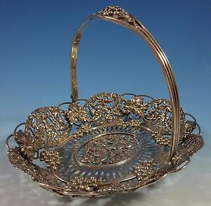 Theodore Starr Sterling Silver Basket With Cherubs And Grapes 2302 1430