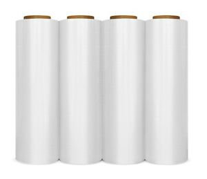 4 Plastic Shrink Hand Stretch Wrap Roll 18 X 1000 Film Clear Free Shipping
