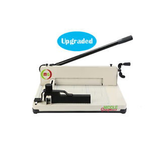 12 Manual High end Guillotine Stack Paper Cutter Trimmer Up To 500 Sheet New