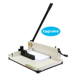 New 17 Manual High end Guillotine Stack Paper Cutter Trimmer Up To 500 Sheets