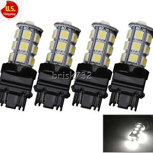 4x 3157 White 18smd 5050 Reverse Brake Stop Turn Tail Back Up Led Light Bulb