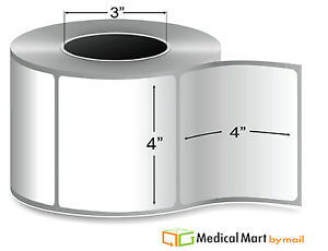 Thermal Transfer Label 4 X 4 Core Ribbon Required 1475 Labels rl 4 Rolls