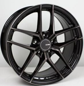 18x8 5 Enkei Ty5 5x114 3 35 Pearl Black Rims Fits Veloster Mazda Speed 3