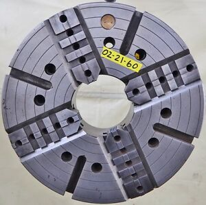 Warner Swasey Usa 21 4 Jaw Independent Manual Chuck A2 15 Mount 6 1 4 Hole