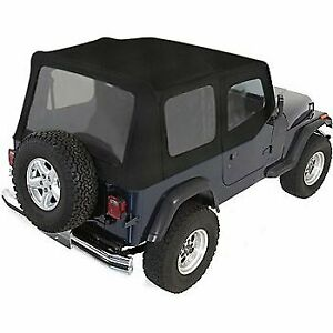 Rugged Ridge Soft Top New Black Jeep Wrangler 1988 1995 13722 15