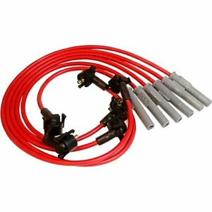 Msd Spark Plug Wires Spiral Core 8 5mm Red Stock Boots Ford Mustang 3 8l V6 Set
