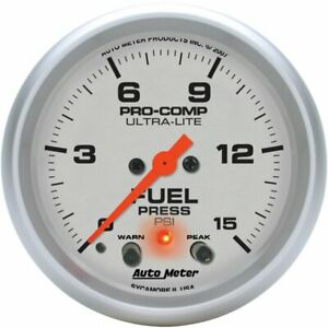 Autometer Fuel Pressure Gauge Gas New 4470