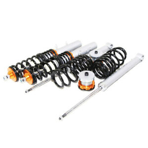 Fit 1998 2005 Vw Beetle Mkiv Mk4 Only Coilover Suspension Lowering Kit Gold