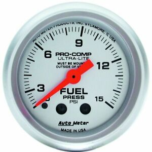 Autometer Fuel Pressure Gauge Gas New 4313