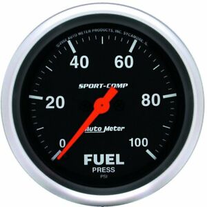 Autometer Fuel Pressure Gauge Gas New 3563